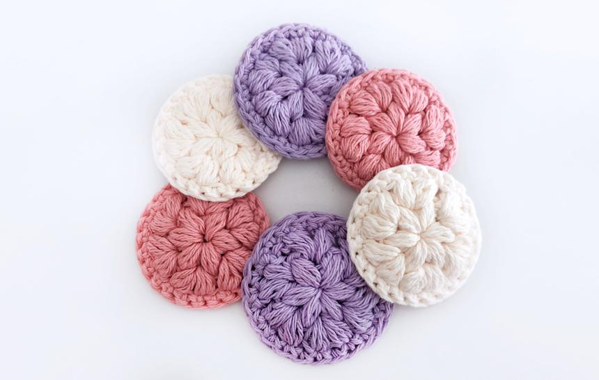 Discos / Pétalos de Limpieza Facial Reutilizables- Patrón de Crochet Gratuito