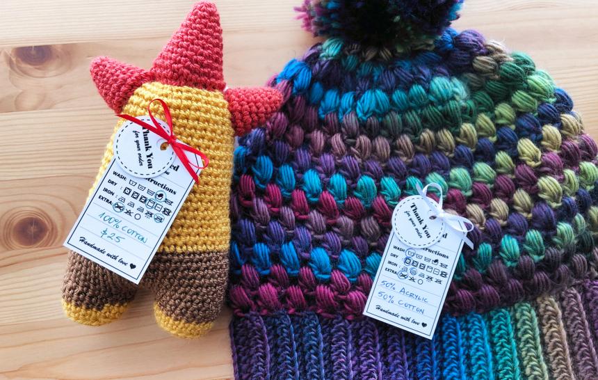 Etiquetas GRATIS para tejedoras