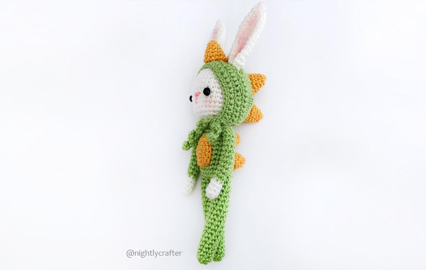Bunny in Dino's Pajamas – Free Crochet Pattern – Add-on