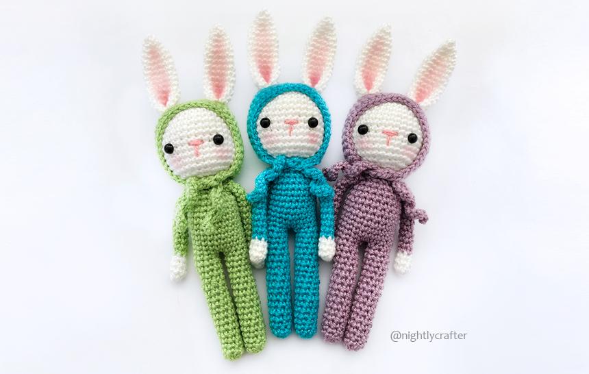 Conejito en Pijama – Patrón de Crochet