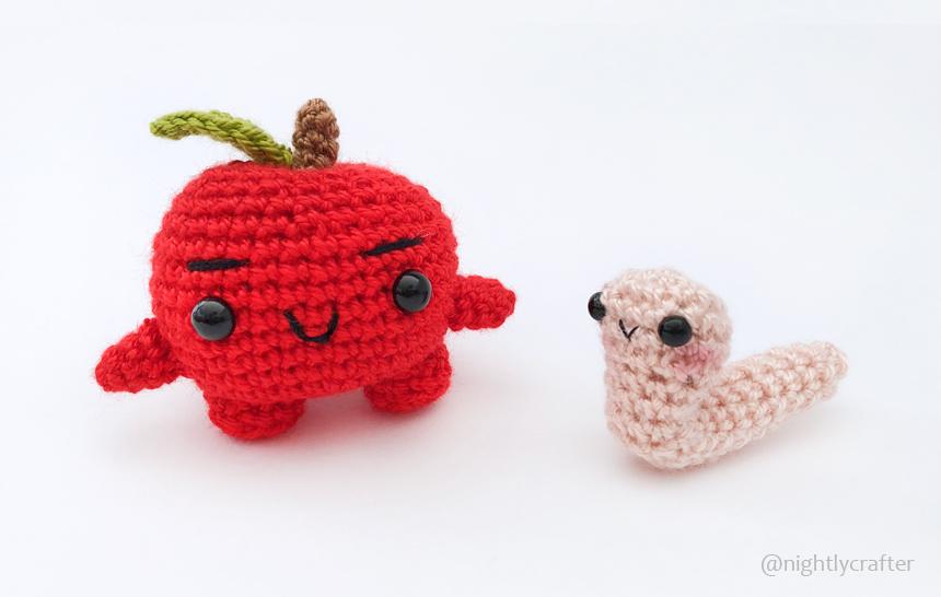 Juanito Manzanito & Gus el Gusano – Patrón de Crochet