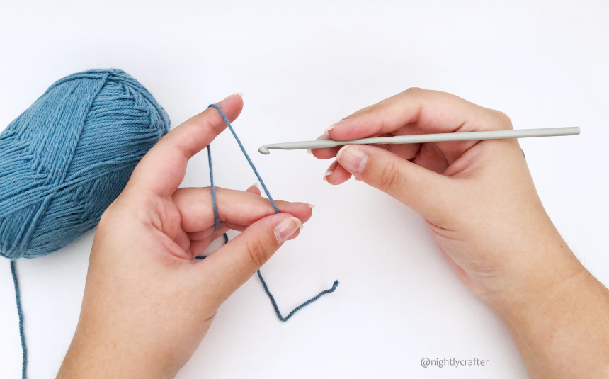 How to Hold Your Crochet Hook and Yarn