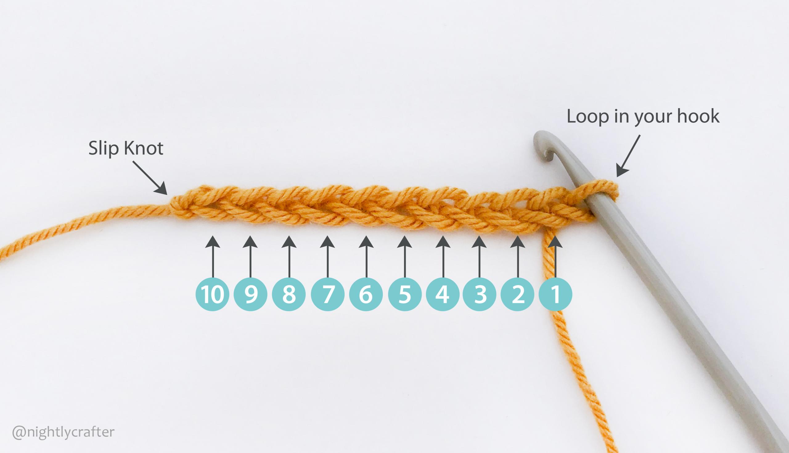 Yellow Crochet Chain