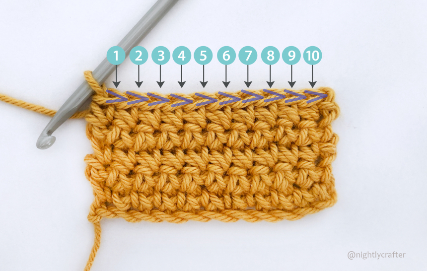 How To Count Your Crochet Stitches