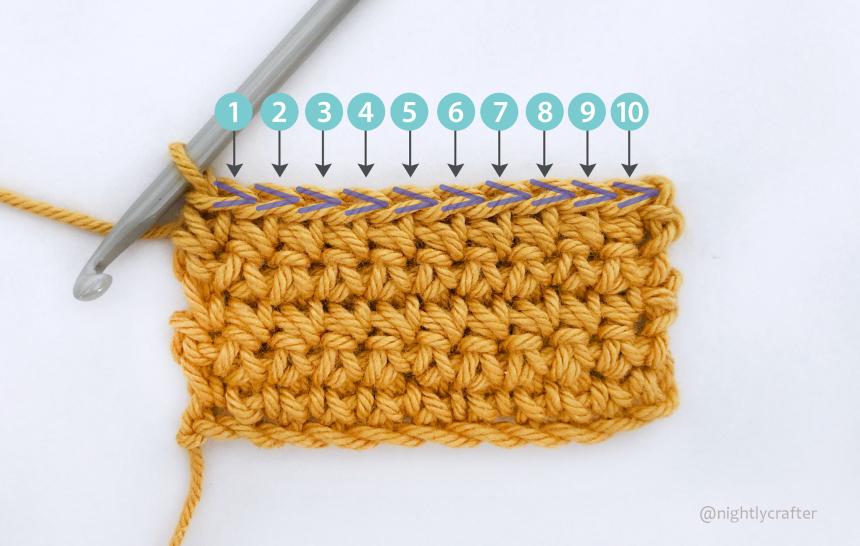 Cómo Contar Puntos de Crochet